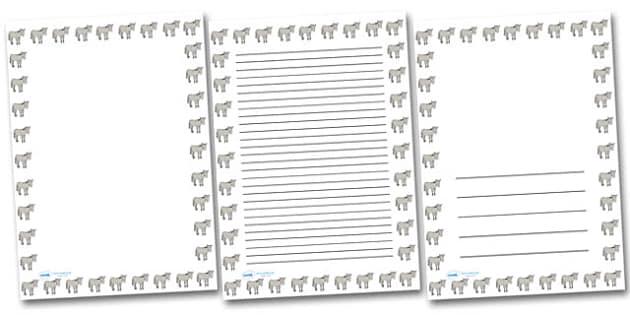 Simpsons Donkey Portrait Page Borders- Portrait Page Borders - Page border, border, writing template, writing aid, writing frame, a4 border, template, templates, landscape