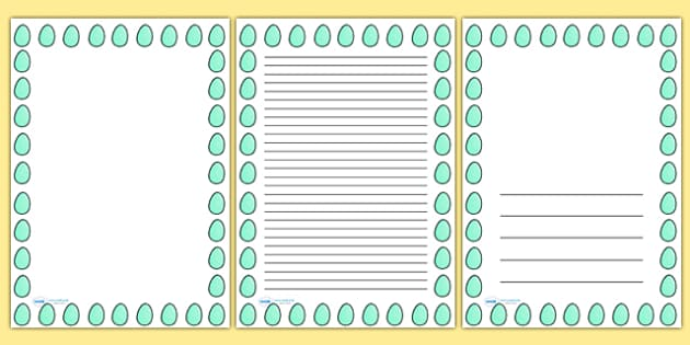 Spotty Easter Egg Portrait Page Borders- Portrait Page Borders - Page border, border, writing template, writing aid, writing frame, a4 border, template, templates, landscape
