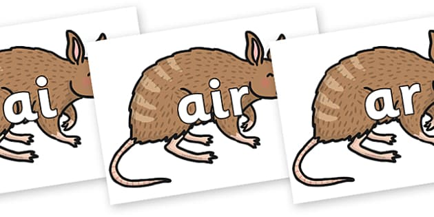Phase 3 Phonemes on Bandicoot - Phonemes, phoneme, Phase 3, Phase three, Foundation, Literacy, Letters and Sounds, DfES, display