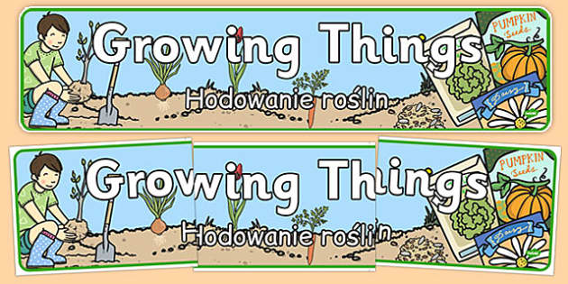 Growing Things Banner Polish Translation - polish, grow, growth, header