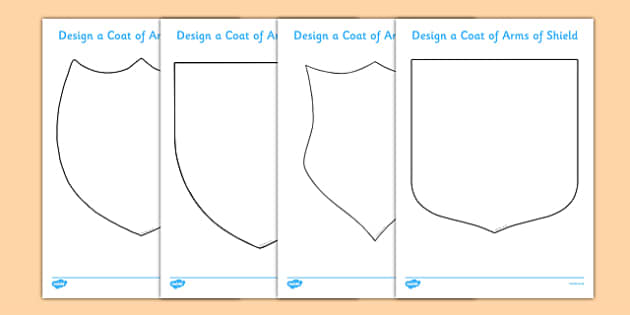 make your own coat of arms template - fairytale castle design a coat of arms shield fairytale