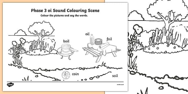Phase 3 oi Sound Colouring Scene