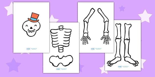 Make a Moving Skeleton Large to Support Teaching on Funnybones - funny bones, bones