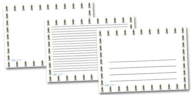 Jack Simpson Landscape Page Borders- Landscape Page Borders - Page border, border, writing template, writing aid, writing frame, a4 border, template, templates, landscape