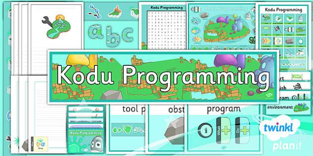 PlanIt Computing Year 6 Kodu Programming Unit Additional Resources - ks2, uks2, key stage, junior, computers, it, itc, ict, programme, program, software, skills, resources, display, presentation, planning, notes, idea, information, posters, mats, wor