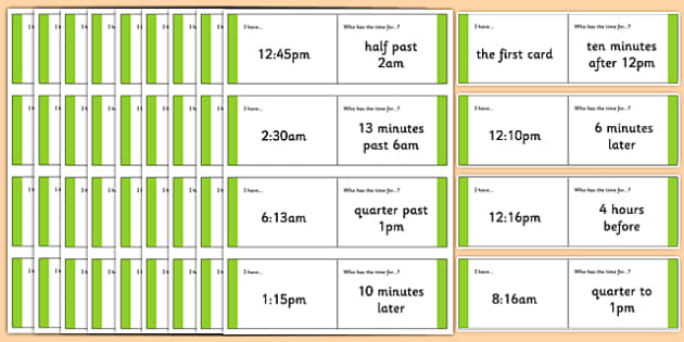 Australian Year 3-4 Numeracy Time Loop Cards - australia, Time, intervals, loop cards, follow me cards, past, to, minutes, hours, seconds