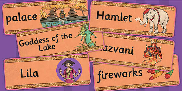 The Firework Makers Daughter Word Cards - visual aids, keywords