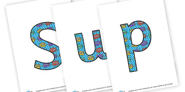 Superheroes - display lettering - Superheroes Display Primary Resources,  Superheroes, Display