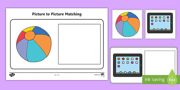 Workstation Pack: Picture to Picture Matching Activity Pack