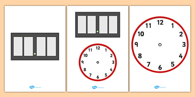 Blank Analogue and Digital Clock - blank, analogue, digital, clock, display