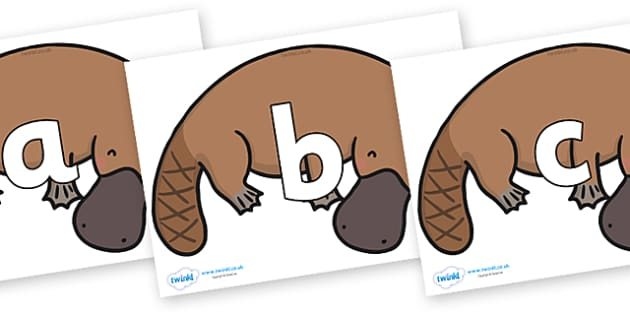 Phoneme Set on Platypus - Phoneme set, phonemes, phoneme, Letters and Sounds, DfES, display, Phase 1, Phase 2, Phase 3, Phase 5, Foundation, Literacy