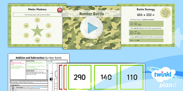 PlanIt Y5 Addition and Subtraction Lesson Pack Mental Calculations (2) - addition, add, subtract, subtraction, mental, mentally, mental calculations, strategy, compensation, partitioning, near doubles, game, differentiated