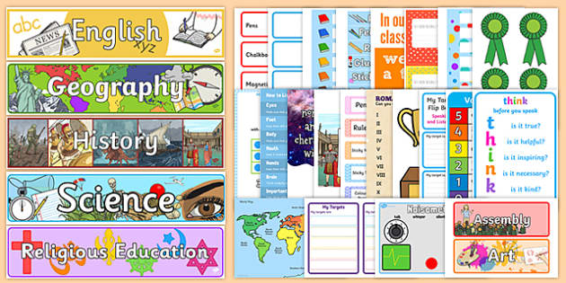 New Classroom Set Up Resource Pack for KS2 - New Classroom, Ideas, Resources, KS2