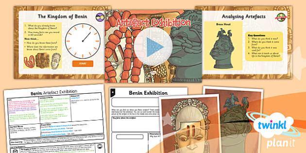 PlanIt - History UKS2 - Benin Lesson 5: Artefact Exhibition Lesson Pack