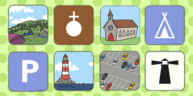 Map Symbol Matching Cards - map, symbol, matching cards, match