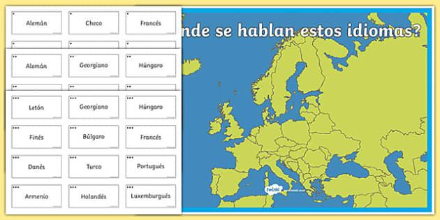 Actividad ¿Dónde se hablan estos idiomas?