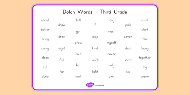 Dolch Words Word Mat Third Grade - usa, dolch, words, word mat, word, mat, third grade