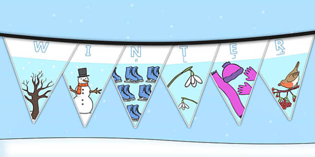 Winter Display Lettering Bunting Arabic Translation - arabic, winter, display, bunting, display lettering