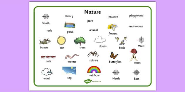 Nature Word Mat - nature, word mat, word, mat, environment, natural, habitat