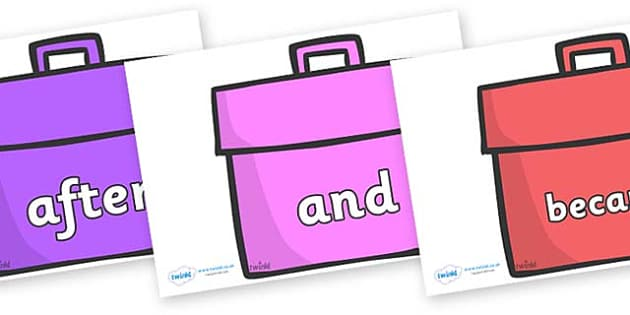 Connectives on Book Bags - Connectives, VCOP, connective resources, connectives display words, connective displays