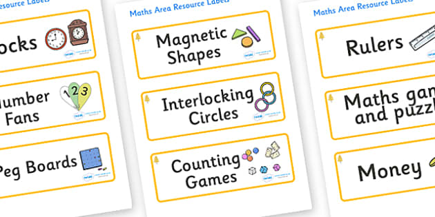 Aspen Themed Editable Maths Area Resource Labels - Themed maths resource labels, maths area resources, Label template, Resource Label, Name Labels, Editable Labels, Drawer Labels, KS1 Labels, Foundation Labels, Foundation Stage Labels, Teaching Label
