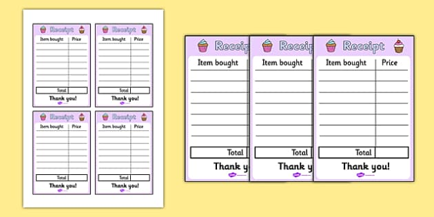 Royal Afternoon Tea Role Play Receipt - royal, afternoon tea, role play, receipt