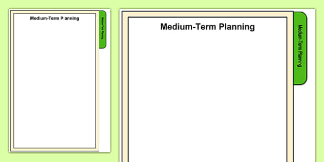 Foundation Phase Medium Term Planning Tab A4 Display Poster-Welsh