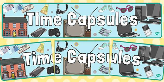 Time Capsules Display Banner - time capsules, display banner, display