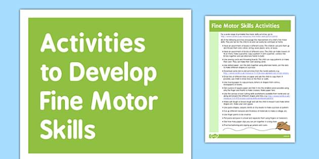 Fine Motor Skills Gross Motor Skills Activities - gross motor