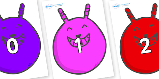 Numbers 0-100 on Space Hoppers - 0-100, foundation stage numeracy, Number recognition, Number flashcards, counting, number frieze, Display numbers, number posters