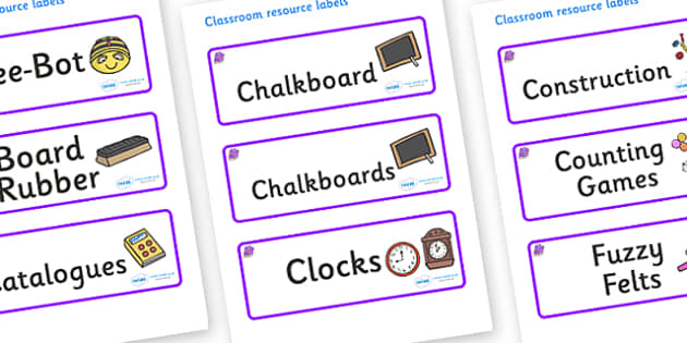 Amethyst Themed Editable Additional Classroom Resource Labels - Themed Label template, Resource Label, Name Labels, Editable Labels, Drawer Labels, KS1 Labels, Foundation Labels, Foundation Stage Labels, Teaching Labels, Resource Labels, Tray Labels,