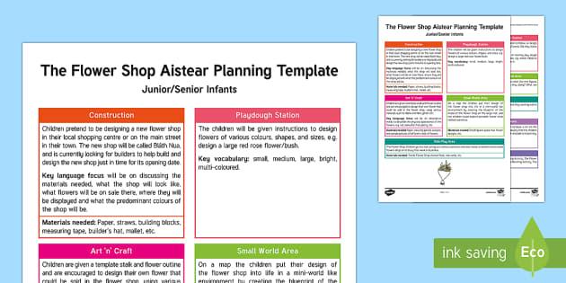 The Flower Shop Aistear Planning Template
