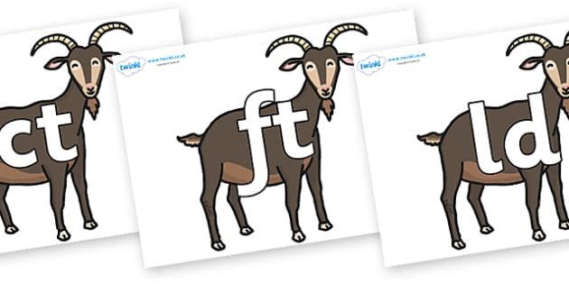 Final Letter Blends on Big Billy Goats - Final Letters, final letter, letter blend, letter blends, consonant, consonants, digraph, trigraph, literacy, alphabet, letters, foundation stage literacy