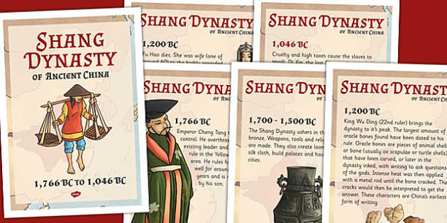 The Shang Dynasty Of Ancient China Timeline Posters - china