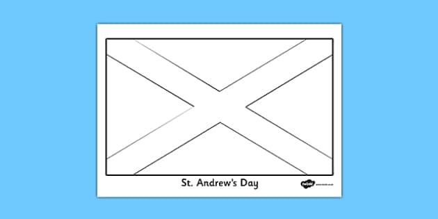 St. Andrew Flag Colouring Sheet - st andrews day, flag, colouring, sheet