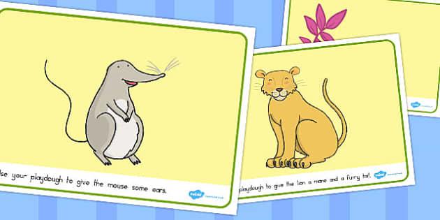 The Lion and the Mouse Playdough Mats - australia, playdough