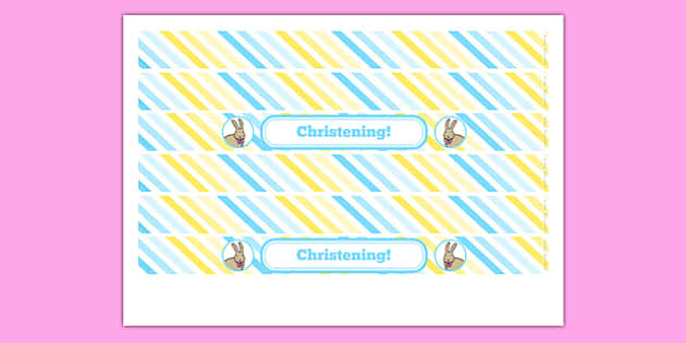 Christening Cake Ribbon - christening, new parents, cake ribbon