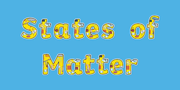 States of Matter Display Lettering - Science lettering, Science display, Science display lettering, states of matter, display lettering, display, letter