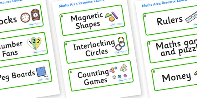 Horse Chestnut Tree Themed Editable Maths Area Resource Labels - Themed maths resource labels, maths area resources, Label template, Resource Label, Name Labels, Editable Labels, Drawer Labels, KS1 Labels, Foundation Labels, Foundation Stage Labels,
