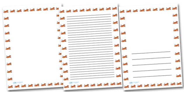 Tiger Portrait Page Borders- Portrait Page Borders - Page border, border, writing template, writing aid, writing frame, a4 border, template, templates, landscape