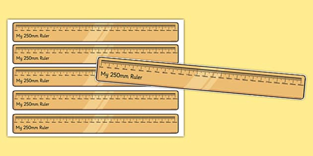 250 Millimetre Ruler Cut Outs - 250 millimetre, ruler, cut outs, millimetre, display