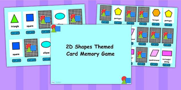 2D Shape Matching Cards Flipchart Activity - 2D, shape, 2D shapes