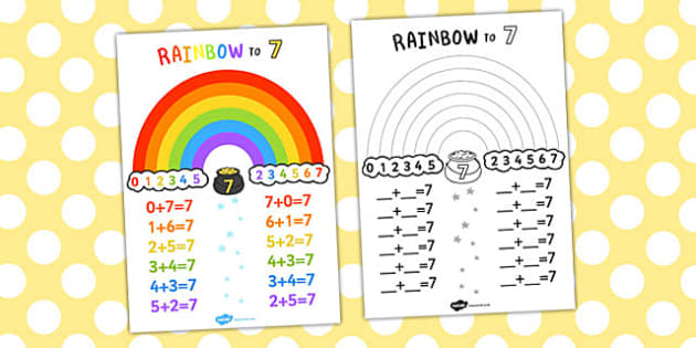 Rainbow to 7 Display Poster - displays, posters, visual aids