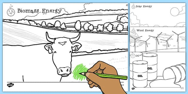 Renewable and Non Renewable Energy Colouring Sheets - renewable, non-renewable, energy, colouring
