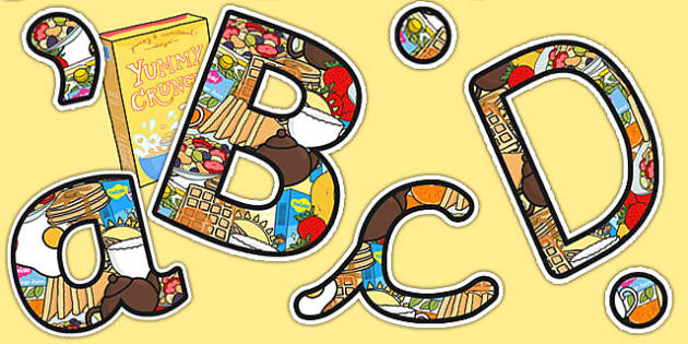 Breakfast Club Themed Display Lettering - breakfast club, display