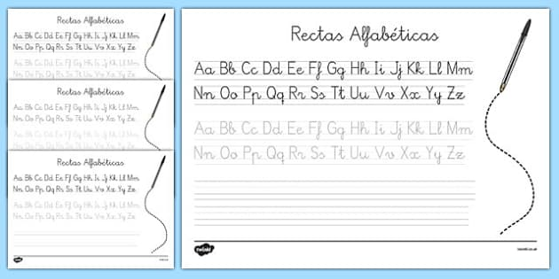 Decoración de la clase Recta alfabética
