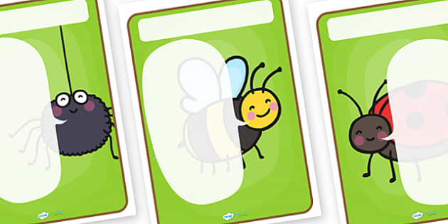 Minibeasts Themed Target Posters Large Speech Bubble - minibeasts, minibeasts themed, target poster, targets, class targets, themed targets, class management
