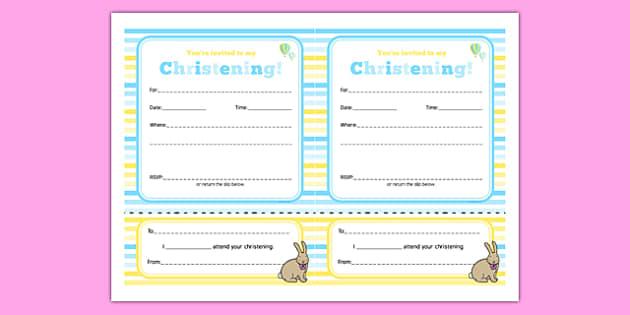 Christening Invitation - Christening, baptism, naming ceremony, baby, party, invitation