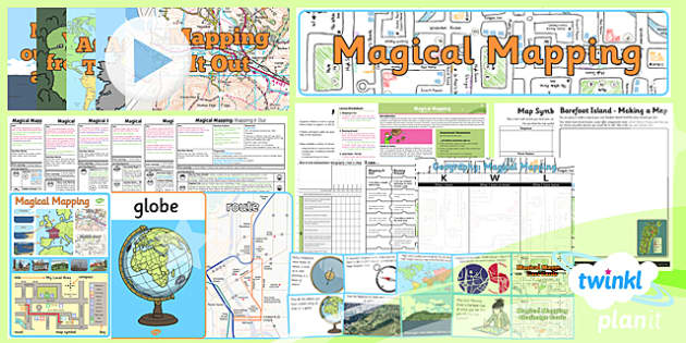 PlanIt - Geography Year 2 - Magical Mapping Unit Pack - planit, geography, year 2, magical mapping, unit pack, maps, map skills
