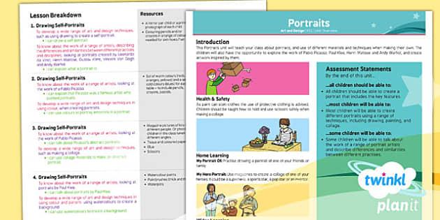 PlanIt - Art KS1 - Portraits Planning Overview - planit, art, planning, overview